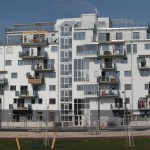 B.R.O.T. Aspern (© Ernst/B.R.O.T. Aspern) Haus mit BewohnerInnen